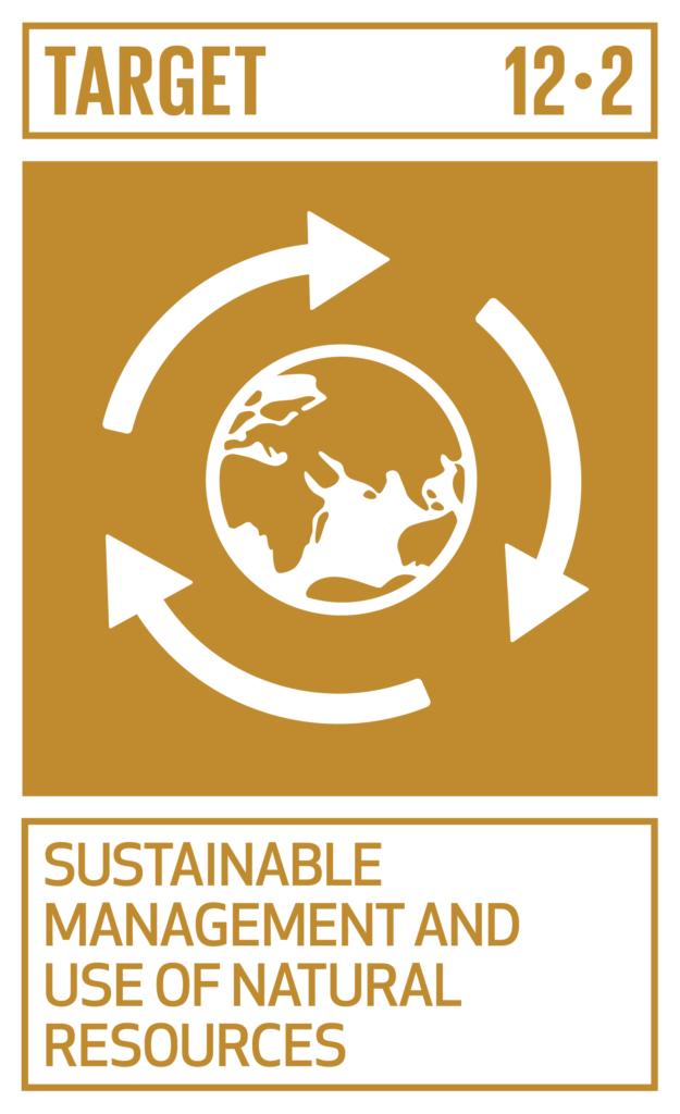 SDGsゴール12 つくる責任 つかう責任 ターゲット12.2