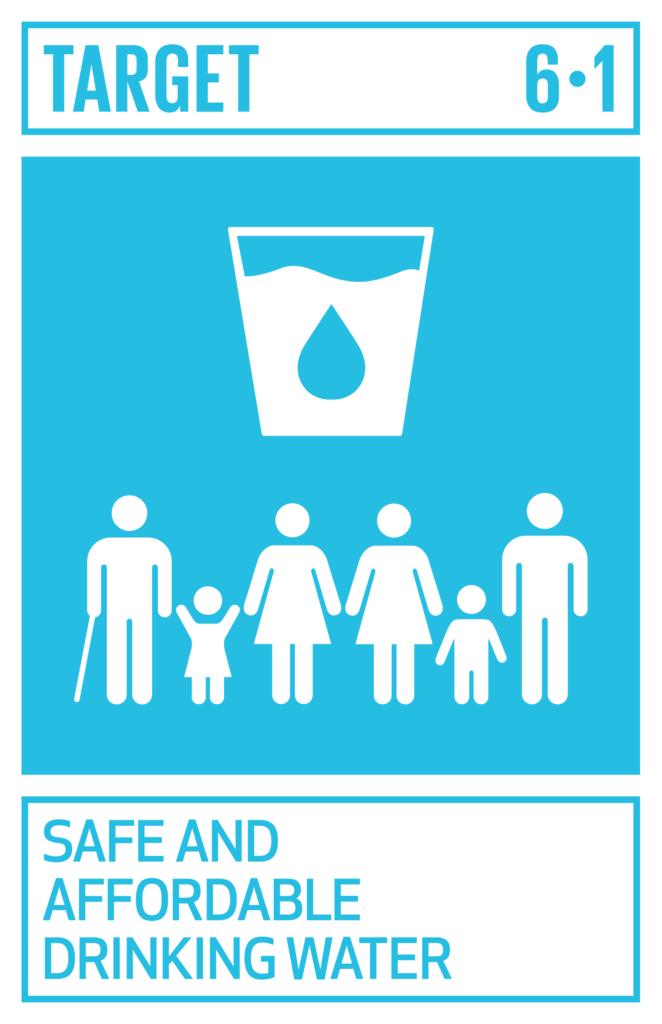 SDGsゴール6 安全な水とトイレを世界中に ターゲット6.1