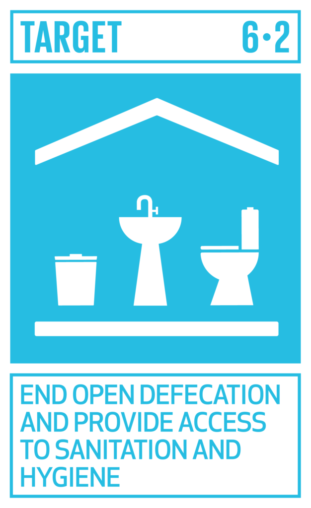 SDGsゴール6 安全な水とトイレを世界中に ターゲット6.2
