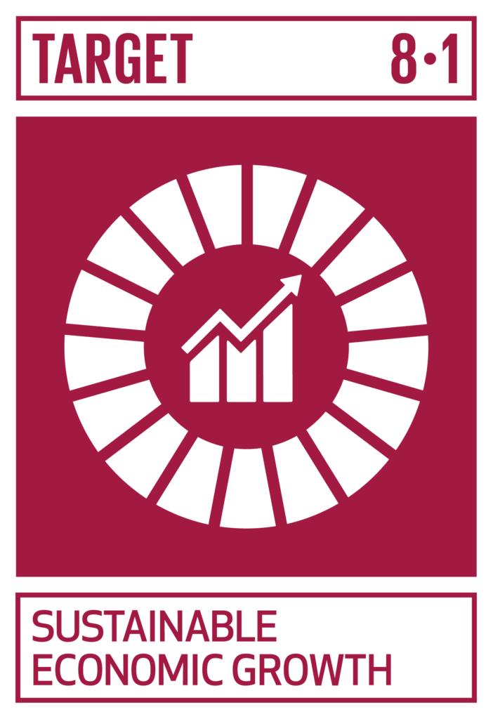 SDGsゴール8 働きがいも経済成長も ターゲット8.1