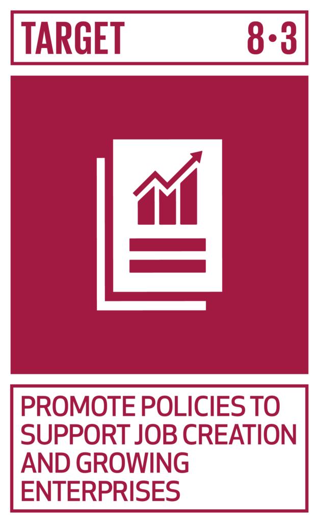 SDGsゴール8 働きがいも経済成長も ターゲット8.3