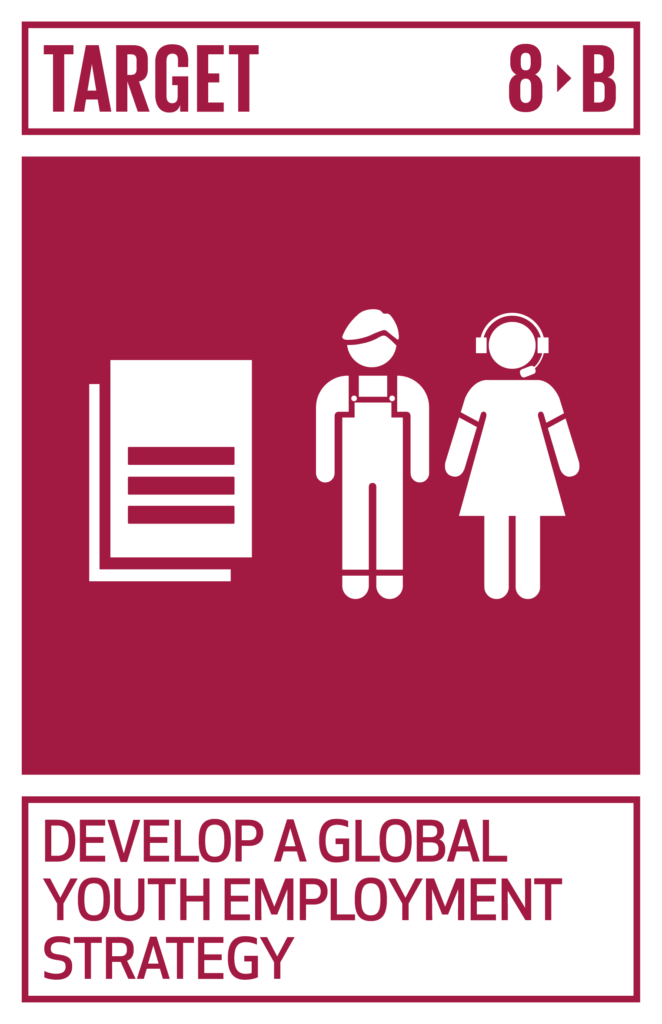 SDGsゴール8 働きがいも経済成長も ターゲット8.b