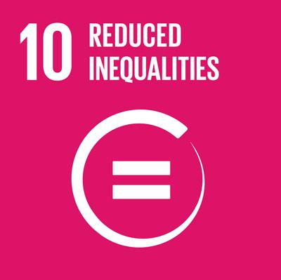 SDGs(持続可能な開発目標) ゴール10 人や国の不平等をなくそうの旧ロゴ