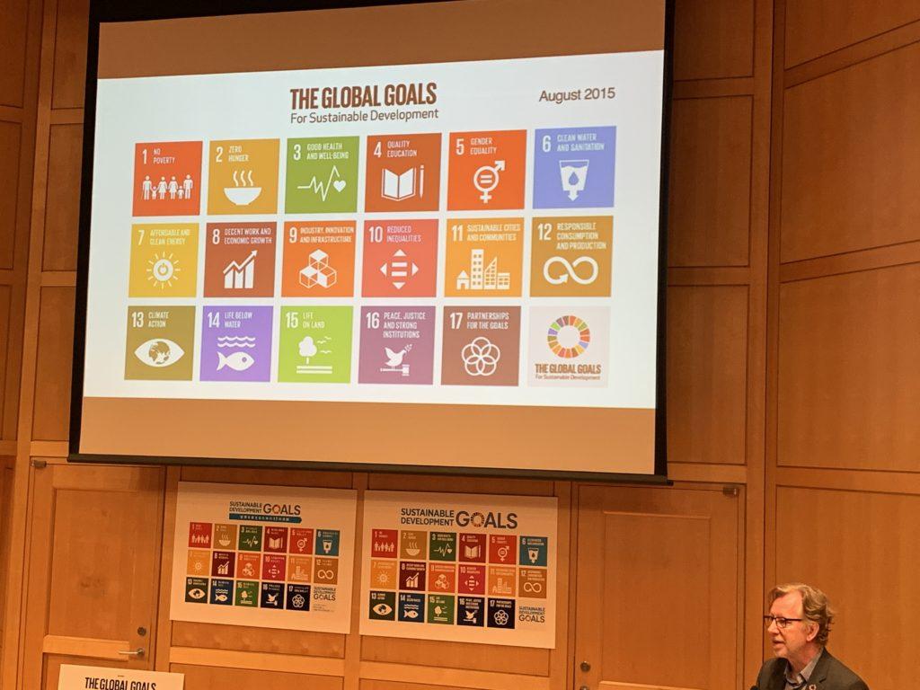 SDGsのロゴデザインやコミュニケーション設計を手がけたヤーコブ・トロールベックさんのプレゼンテーション4