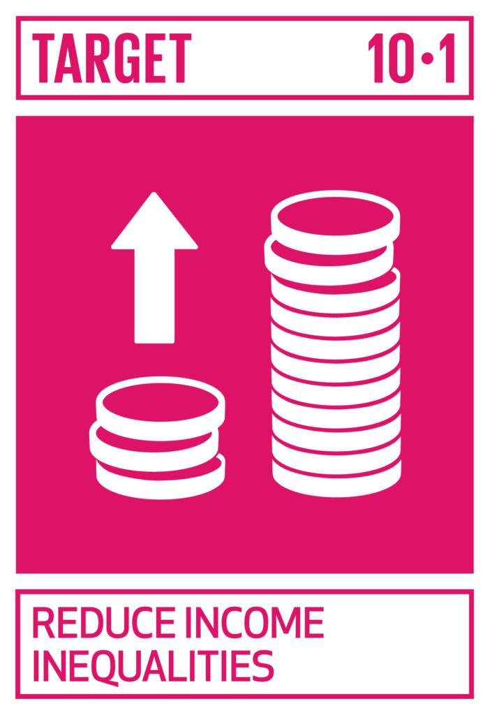 SDGsゴール10 人や国の不平等をなくそう ターゲット10.1