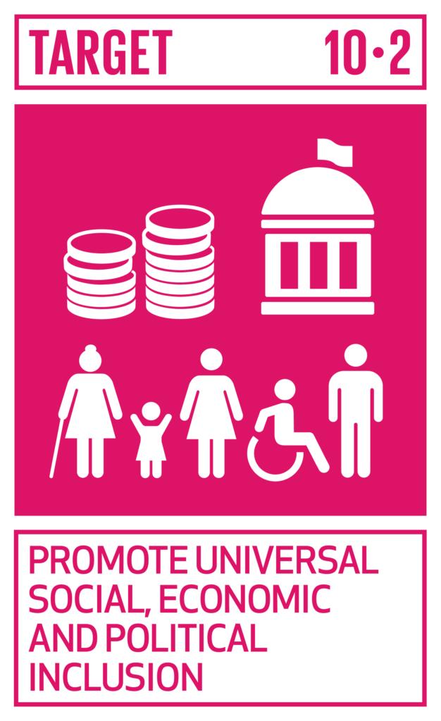 SDGsゴール10 人や国の不平等をなくそう ターゲット10.2