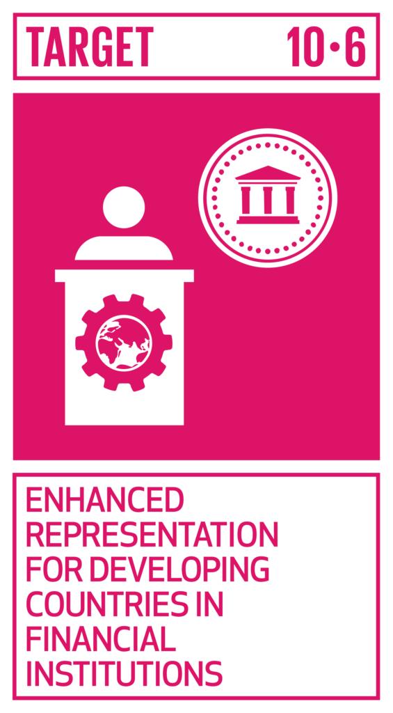SDGsゴール10 人や国の不平等をなくそう ターゲット10.6