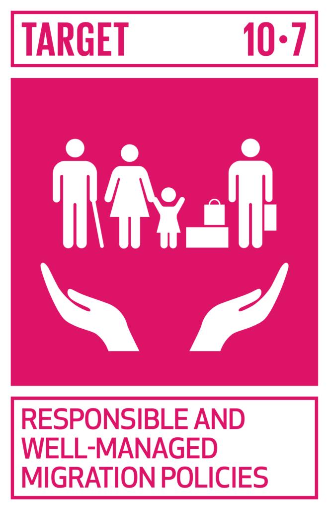 SDGsゴール10 人や国の不平等をなくそう ターゲット10.7