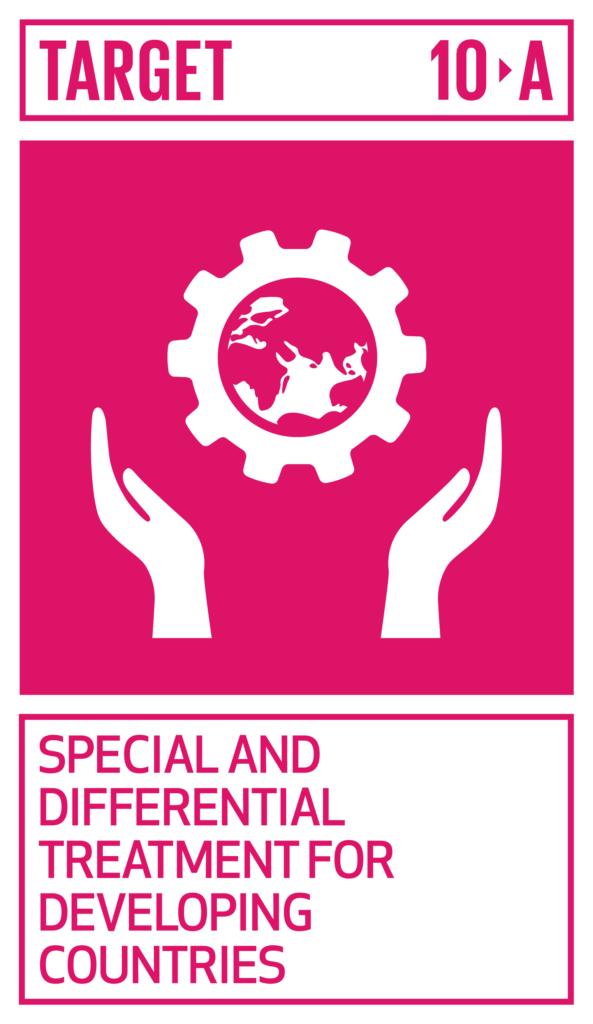 SDGsゴール10 人や国の不平等をなくそう ターゲット10.a