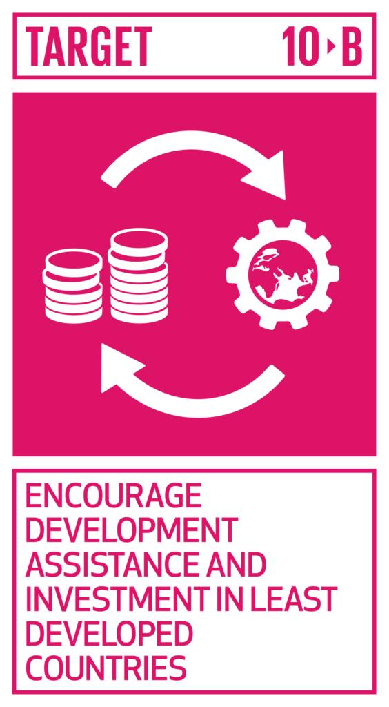 SDGsゴール10 人や国の不平等をなくそう ターゲット10.b