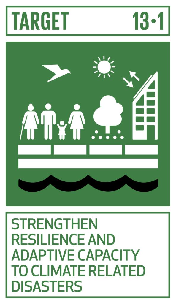 SDGsゴール13 気候変動に具体的な対策 ターゲット13.1