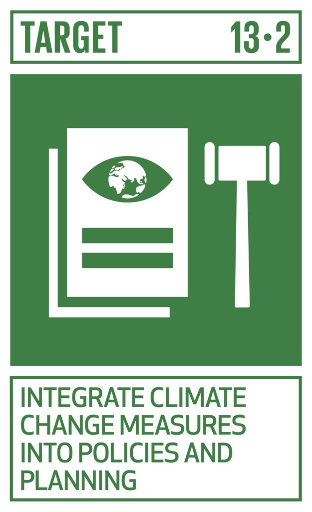 SDGsゴール13 気候変動に具体的な対策 ターゲット13.2