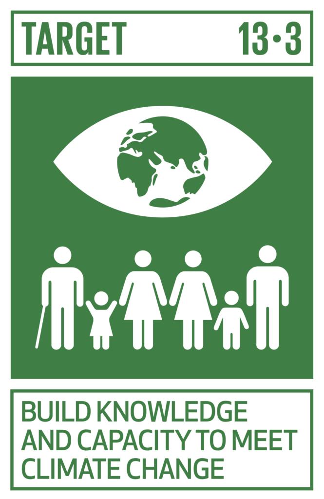 SDGsゴール13 気候変動に具体的な対策 ターゲット13.3