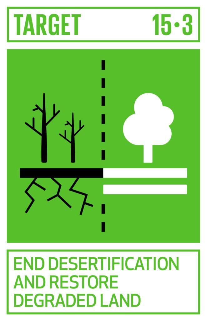 SDGsゴール15 陸の豊かさも守ろう ターゲット15.3