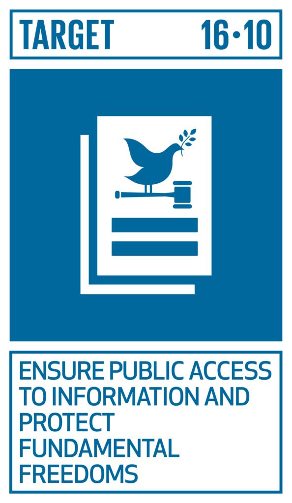 SDGsゴール16 平和と公正をすべての人に ターゲット16.10