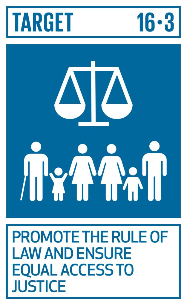SDGsゴール16 平和と公正をすべての人に ターゲット16.3