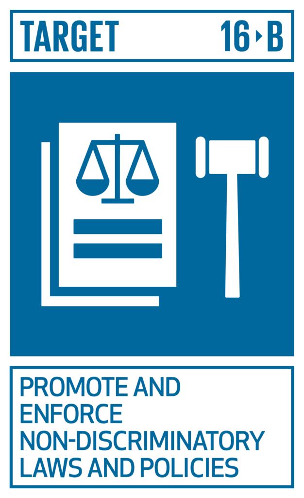 SDGsゴール16 平和と公正をすべての人に ターゲット16.b
