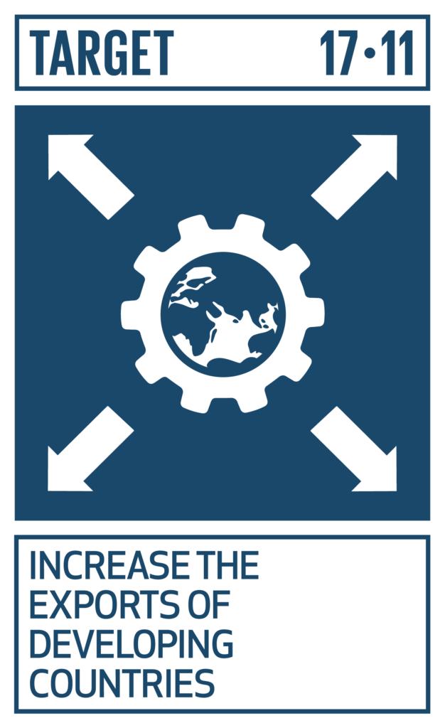 SDGsゴール17 パートナーシップで目標を達成しよう ターゲット17.11