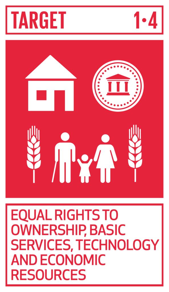 SDGsゴール1 貧困をなくそう のターゲット1.4