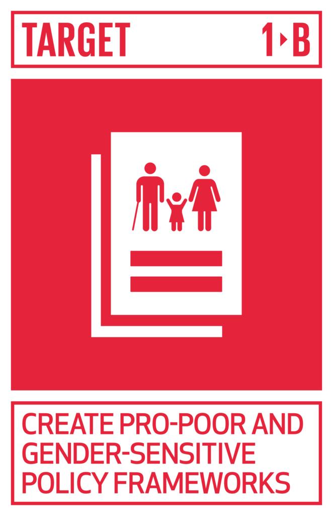 SDGsゴール1 貧困をなくそう のターゲット1.b