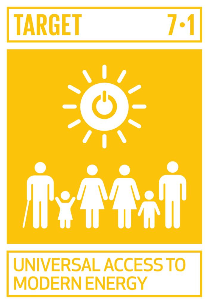 SDGsゴール7  エネルギーをみんなに そしてクリーンにターゲット7.1