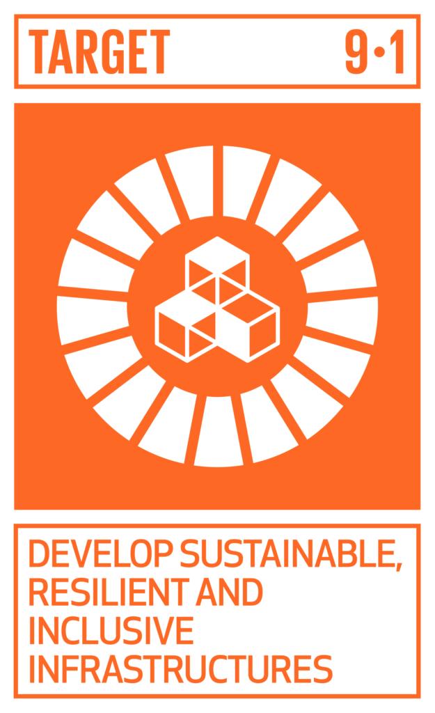 SDGsゴール9 産業と技術革新の基盤をつくろう ターゲット9.1