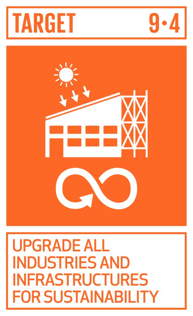 SDGsゴール9 産業と技術革新の基盤をつくろう ターゲット9.4